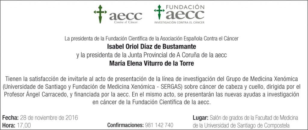 Invitación aecc Medicina Xenómica.indd
